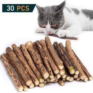 30 Bâtonnets en bois pour chats et chatons