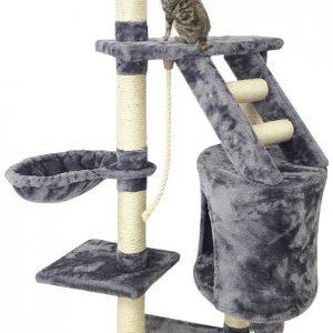 Arbre à Chat gris avec 5 perchoirs 120 cm