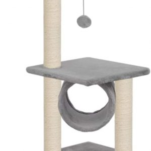 Arbre à chat Gris avec tour de grattage en Sisal 65 cm