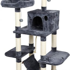 Arbre à chat gris en osier 150cm