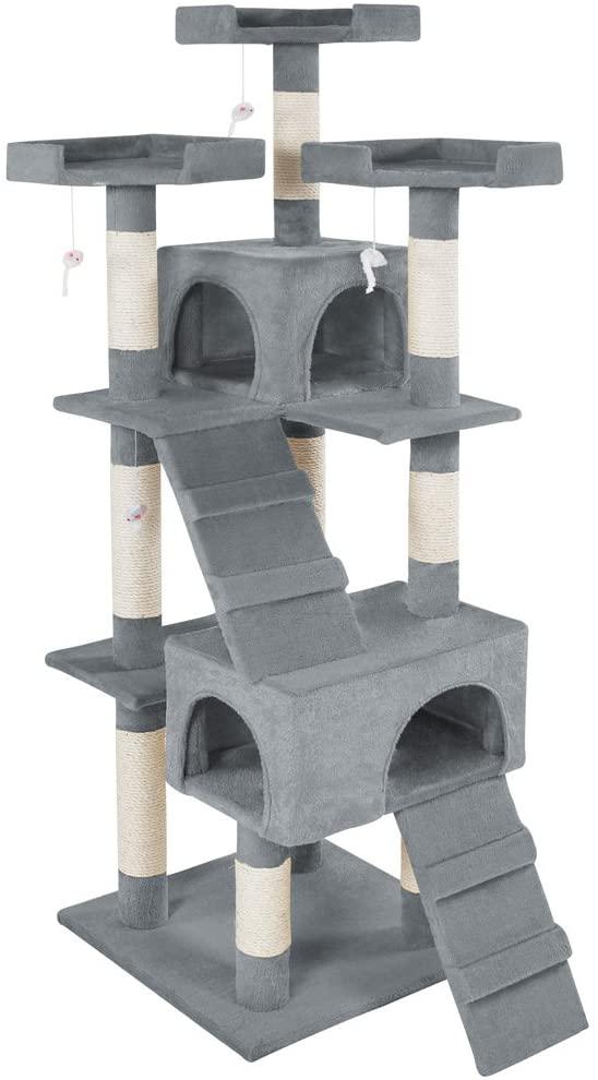 Arbre à chat gris Griffoir Grattoir couleurs au choix