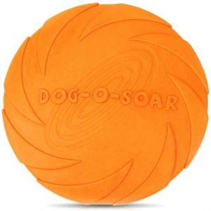 Frisbee en caoutchouc pour petits et moyens chiens