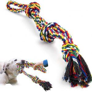 Jouet corde avec nœuds pour chien