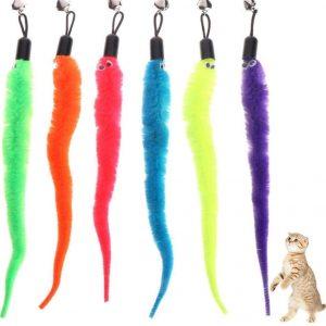 Jouet pour chat à Plume Multicolore avec cloche