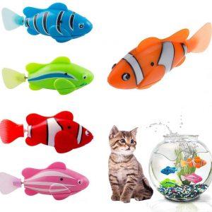 Jouet pour chat électrique design avec poissons mobiles