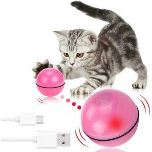 Jouet pour chat avec balle roulante et lumière Led