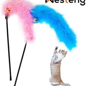 Jouet pour chat avec plumes artificielles