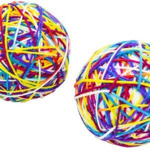 Jouet pour chat Balle Colorée pelote de laine avec Cloche
