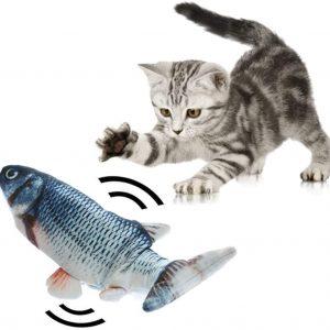 Jouet pour chat en forme Poisson en mouvement