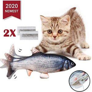 Jouet pour chat peluche poisson électronique