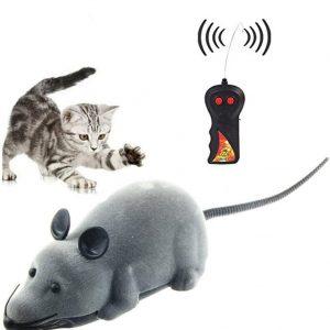 Jouet pour chat souris bruit avec télécommande sans fil