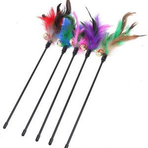 Jouet pour chat stimulant bâton avec plume