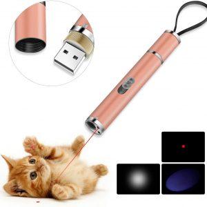 Jouet pour chat USB lumière LED 3 en 1