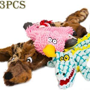 Jouets couinants peluches pour chien de petite et moyenne taille