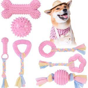 Jouets de Dentition pour chiot avec boules et cordes en Coton