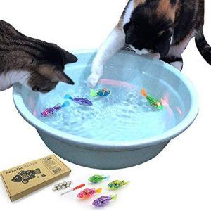 Jouets interactifs flottants pour chat avec lumière LED