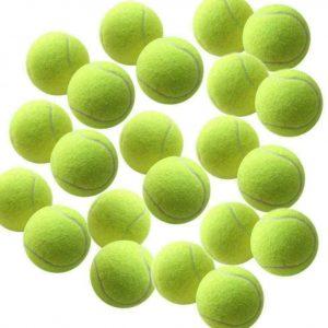 Lot de 12 balles de tennis pour jeune chien