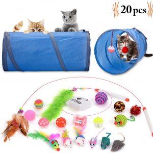 Lot de 20 jouets pour chats et chatons