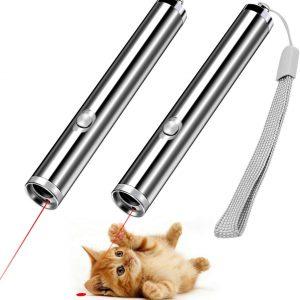 Lumière pointeur LED pour chat 2 en 1 lampe de poche et de dressage pour chat