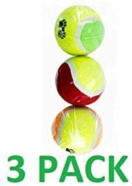 Pack de 3 balles de tennis pour moyens et grands chiens