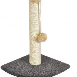 Poteau Arbre à Chat avec griffoir avec colonne de grattage et balle suspendue